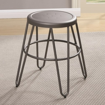 Galway Dining Stool with Light Gunmetal Finish