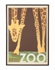 GIRAFFE IN ZOO Wall art # 961203