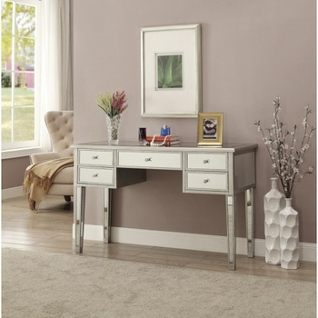 Glam Writing Desk with Mirrored Accents