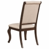 Glen Cove Antique Java Dining Chair with Button Tufting and Nailhead Trim