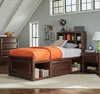 Greenough 400820 Twin Bed with Bookcase Storage