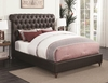 Gresham Queen Bed with Scrolled, Button Tufted Headboard