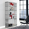 GRIDIRON STAINLESS STEEL BOOKSHELF IN SILVER 1432