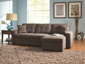 Gus Sectional Sofa with Tufts and Pull Out Bed