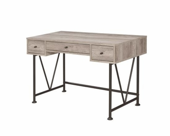 Guthrie Industrial Style Writing Desk with 3 Drawers