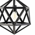 "HADRON 16"" CHANDELIER IN BLACK"