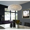 "HALO 25"" ACRYLIC CHANDELIER IN CLEAR"