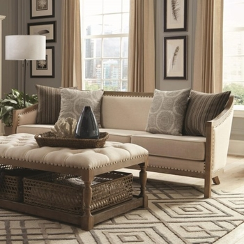 Hamilton Vintage Inspired Sofa with Nailhead Trim and Wood Frame