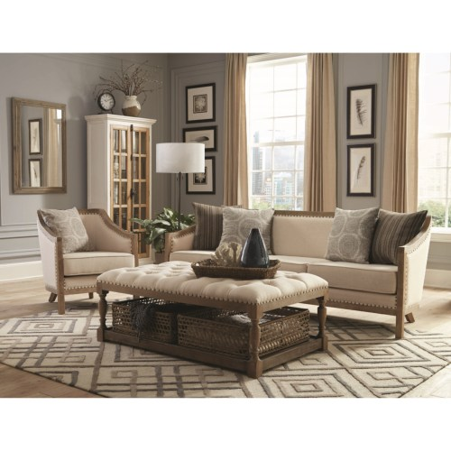 Hamilton Vintage Inspired Sofa With Nailhead Trim And Wood Frame By Donny  Osmond Home