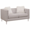 Hemet Modern Loveseat with Acrylic Feet by Scott Living