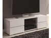 4-Drawer TV Console Glossy White # 700825