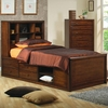 Hillary and Scottsdale Full Bookcase Bed with Underbed Storage