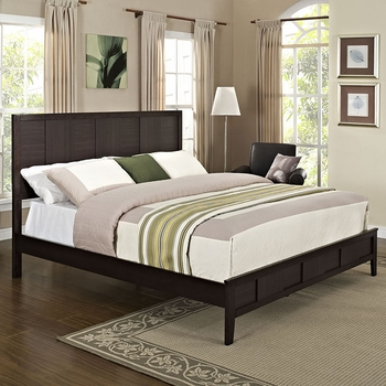 HOLLY QUEEN BED IN ESPRESSO DARK BROWN