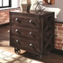 Home Accents Accent Cabinet with Rough-Sawn Finish