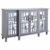 Home Accents Breakfront Accent Cabinet with Geometric Design