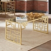 Home Accents Geometric Coffee Table with Brushed Brass Finish
