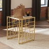 Home Accents Geometric End Table with Brass Finish