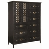 Home Accents Industrial Metal Chest with Apothecary Drawers