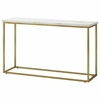 Home Accents Marble Sofa Table with Brass Base