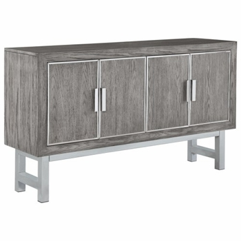 Home Accents Modern Accent Cabinet with Four Doors