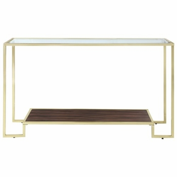 Home Accents Modern Console Table with Brass Frame