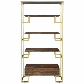 Home Accents Modern Etagere with Brass Frame by Donny Osmond Home