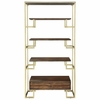 Home Accents Modern Etagere with Brass Frame