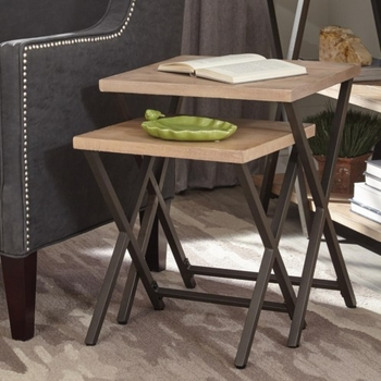 Home Accents Set of Two Nesting Tables with X-Base by Donny Osmond Home