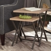Floor Model Set of Two Nesting Tables with X-Base by Donny Osmond Home