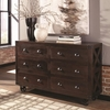 Home Accents Six Drawer Accent Cabinet with X-Detailing by Donny Osmond Home