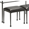 Home Accents Stool with Black Upholstered Seat