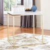 Home Accents White Marble Top End Table with Brass Legs