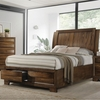 Hunter King Platform Bed with Storage Footboard