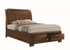 Hunter Queen Platform Bed with Storage Footboard