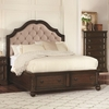 Ilana King Storage Bed with Upholstered Headboard