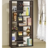Interjecting Shelf Bookcase with Center Back Panel