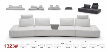 J&M 1323 Italian Leather Sectional