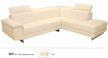 J&M 2071 Italian Leather Sectional