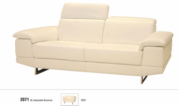 J&M 2071 Italian Leather Sofa