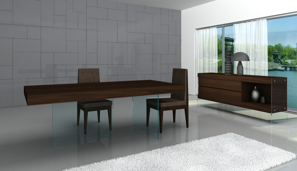 Italy 5pc Floating Dining Table