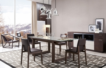 J&M 5PC The E537T Dining Set table and 4 Chairs