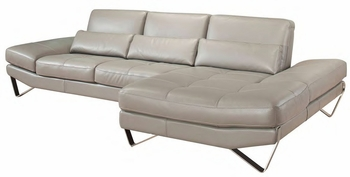 J&M 833 Italian Leather Sectional by Nicoletti