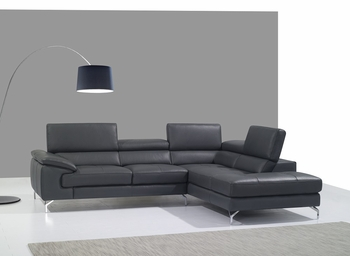 J&M A973 Premium Leather Sectional