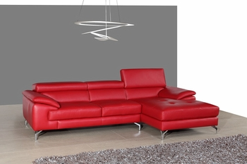 J&M A973b Premium Leather Sectional