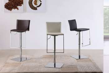 J&M C-183B-3 Black Leather Barstool