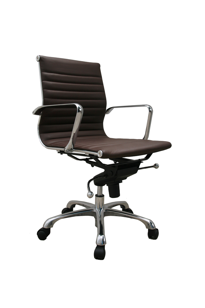 J M Comfy Low Back Brown Office Chair