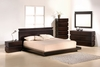 J&M Knotch Platform Queen Bed