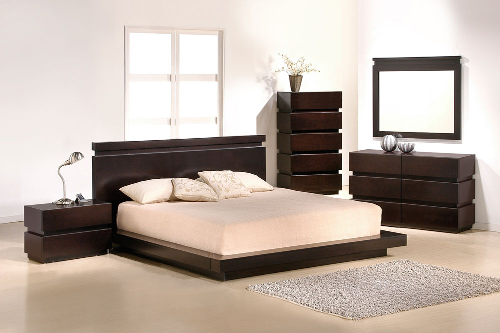 Modern J&M knotch bedroom set queen contemporary VA ...