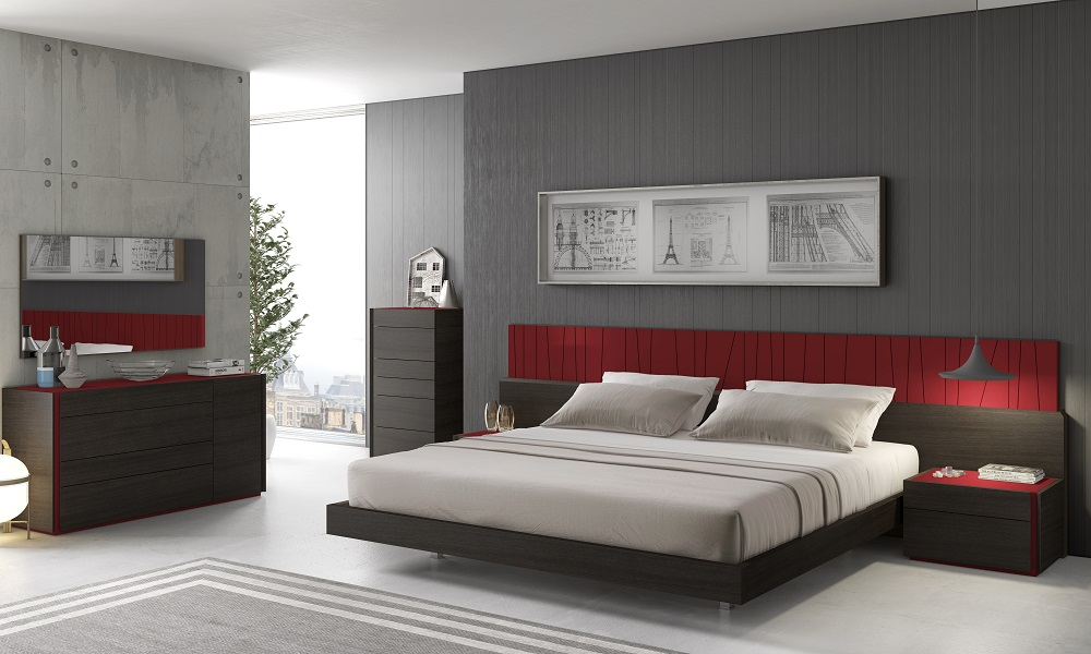 Modern J&M Lagos bedroom set queen contemporary DC furniture ...