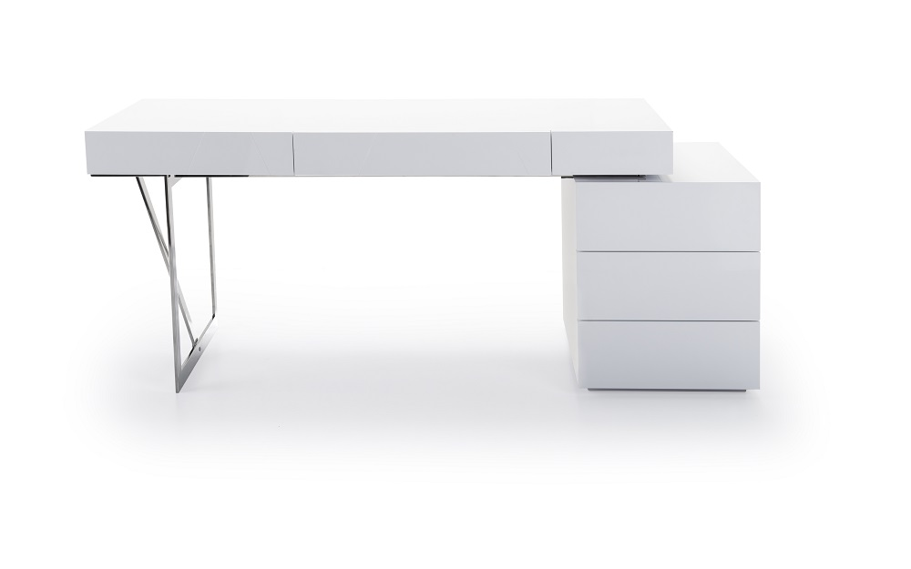 Contemporary desks for office White Jm Loft Modern Office Desk Glasgowbaptistinfo Modern Jm Made In Italy High Quality Desk Office Loft Writing Table